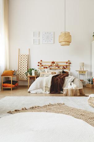 现代,卧室,高雅,舒适,垂直画幅,球,留白,家庭生活,家具,气候与心情