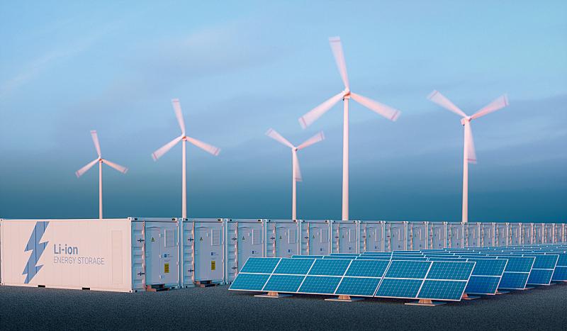 能源,早晨,概念,器材箱,电池,尼斯,光,天空,太阳能电池板,新的