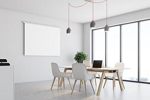 办公大楼,白色,角落,新的,水平画幅,无人,绘画插图,家庭生活,天花板