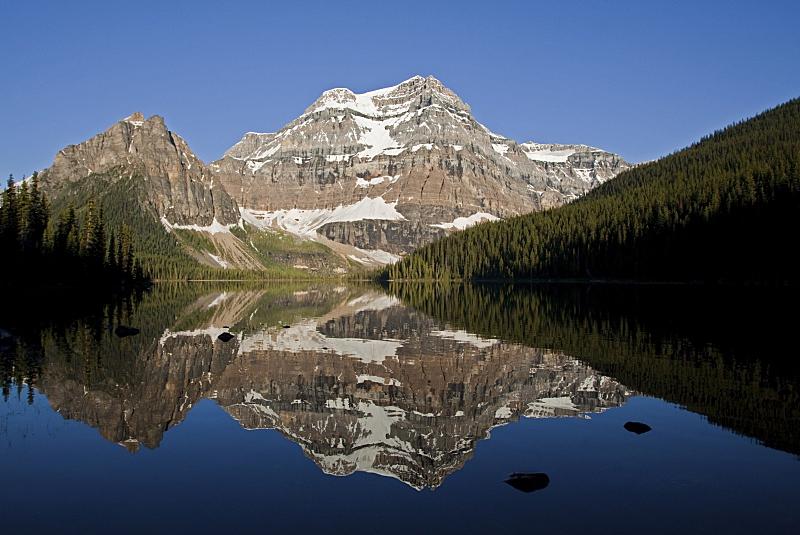 加拿大落基山脉,水,洛矶山脉,水平画幅,雪,阿尔伯塔省,无人,户外,湖,北美