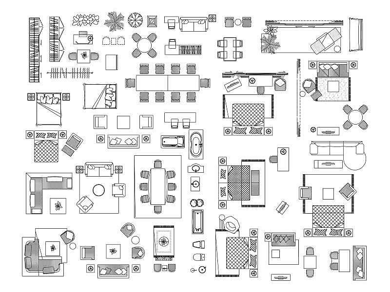 家具,沙发,计算机图标,椅子,浴室,符号,卧室,床,桌子,轮廓