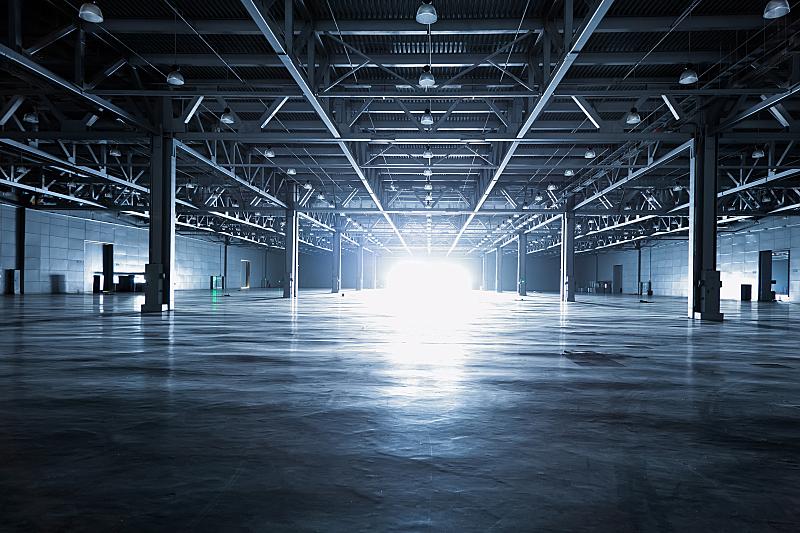 仓库,现代,飞机库,贮藏室,隧道,天花板,水泥地,透视图,工业建筑,屋顶横梁