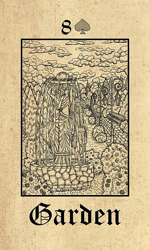 秘密,园林,哥特式风格,预言家,塔罗牌,露天平台,纸牌,灯笼,巫毒教,长椅