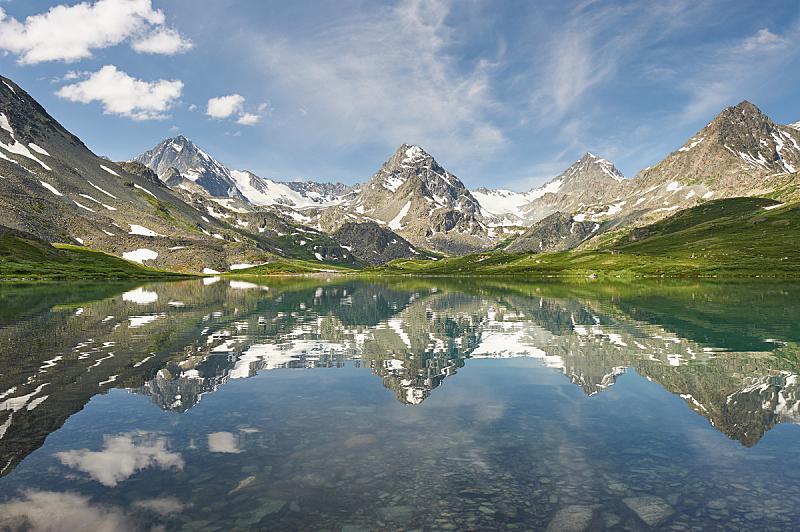 阿尔泰山脉,夏天,地形,俄罗斯,自然美,冰碛,卡斯基德山脉,水,天空,洛矶山脉