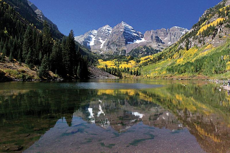 阿斯彭,玛尔露恩贝尔峰,科罗拉多州,前面,洛矶山脉,水平画幅,秋天,无人,户外,阿斯潘海伦德