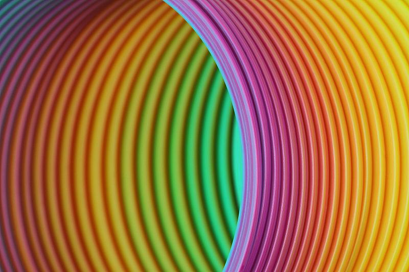 螺线,背景,抽象,彩虹,圆形,水平画幅,无人,色彩鲜艳,塑胶,特写