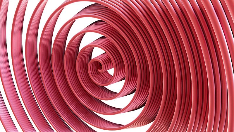 螺线,球体,粉色,抽象,成一排,球,图像,无人,计算机制图,式样