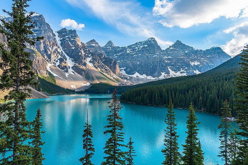 加拿大,自然,班夫,水平画幅,地形,阿尔伯塔省,无人,早晨,夏天,户外