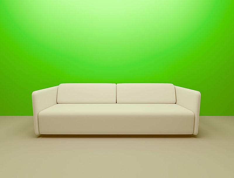 墙,住宅房间,室内,极简构图,绿色,正面视角,留白,新的,面无表情,水平画幅