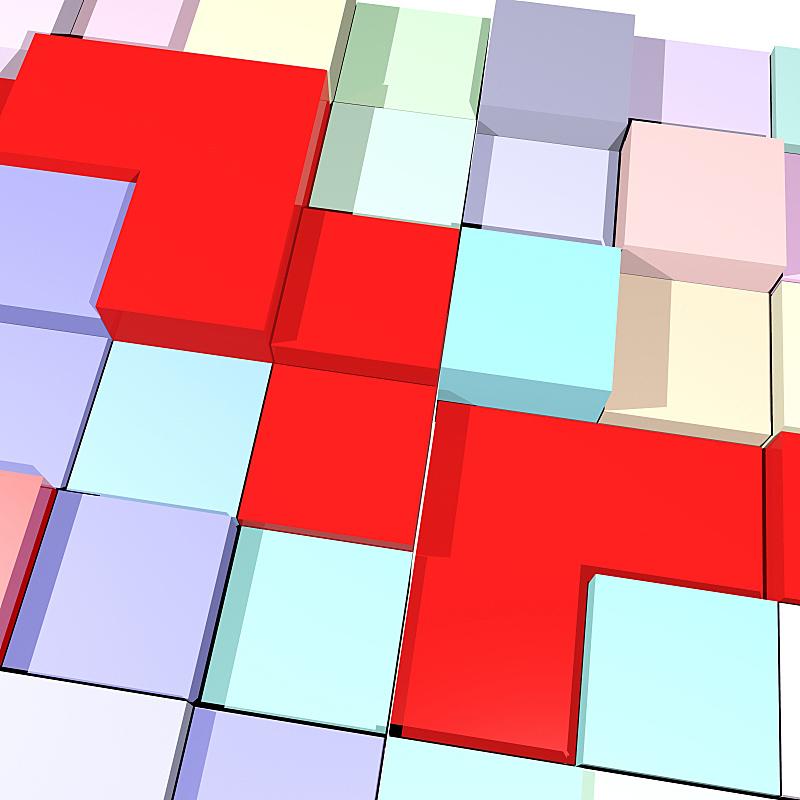 三维图形,红色,背景,立方体,模型,计划书,视点,边框,技术,现代