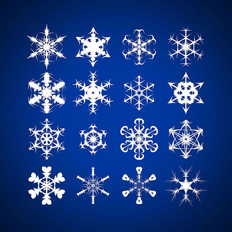 雪花,形状,蓝色背景,反差,电影制片厂,留白,雪,无人,努力