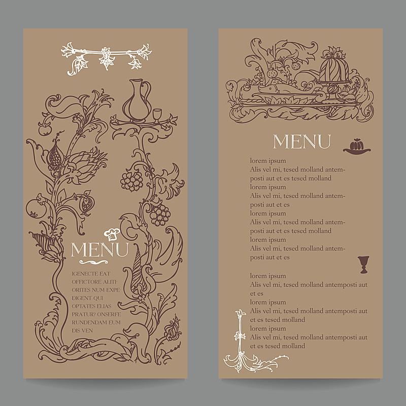 菜单,餐馆,式样,标签,鸡尾酒,高雅,符号,食品,汤匙,图像