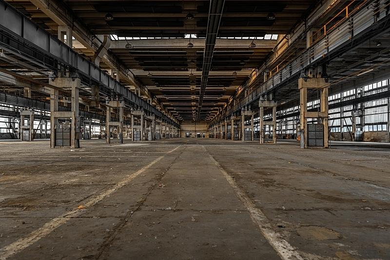 巨大的,走廊,工业,车站,仓库,水平画幅,工作场所,无人,古老的,货运