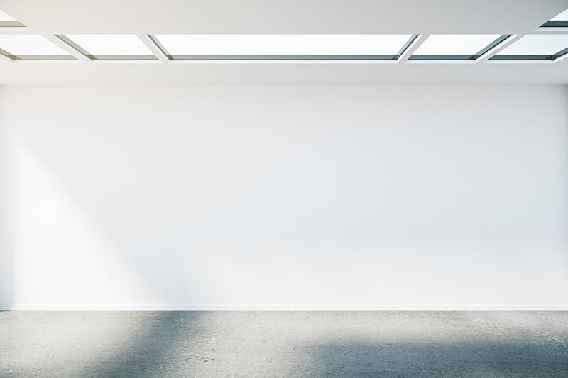 墙,空的,住宅房间,办公室,新的,水平画幅,无人,干净,工作室,现代