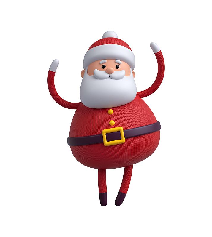分离着色,玩具,圣诞老人,三维图形,白色背景,动画片,垂直画幅,贺卡,新的