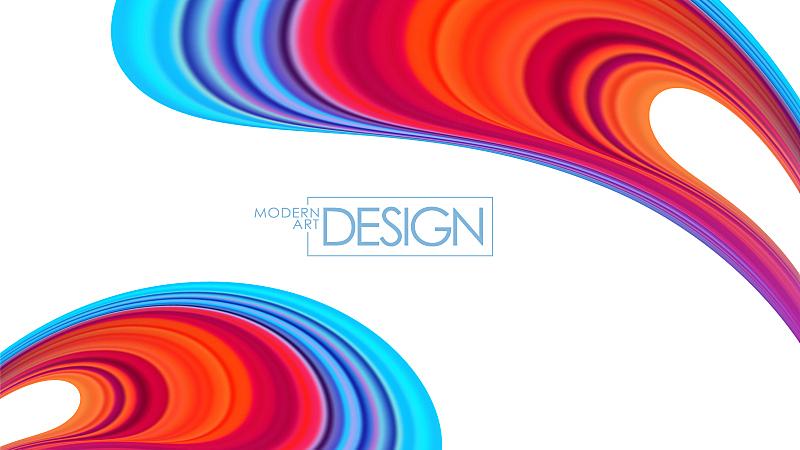 现代,色彩鲜艳,背景,液体,式样,抽象,形状,流动,挥手