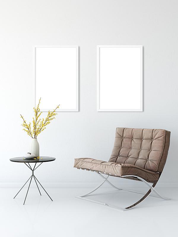 三维图形,室内,正下方视角,起居室,轻蔑的,斯堪的纳维亚半岛,高雅,绘画插图,办公椅