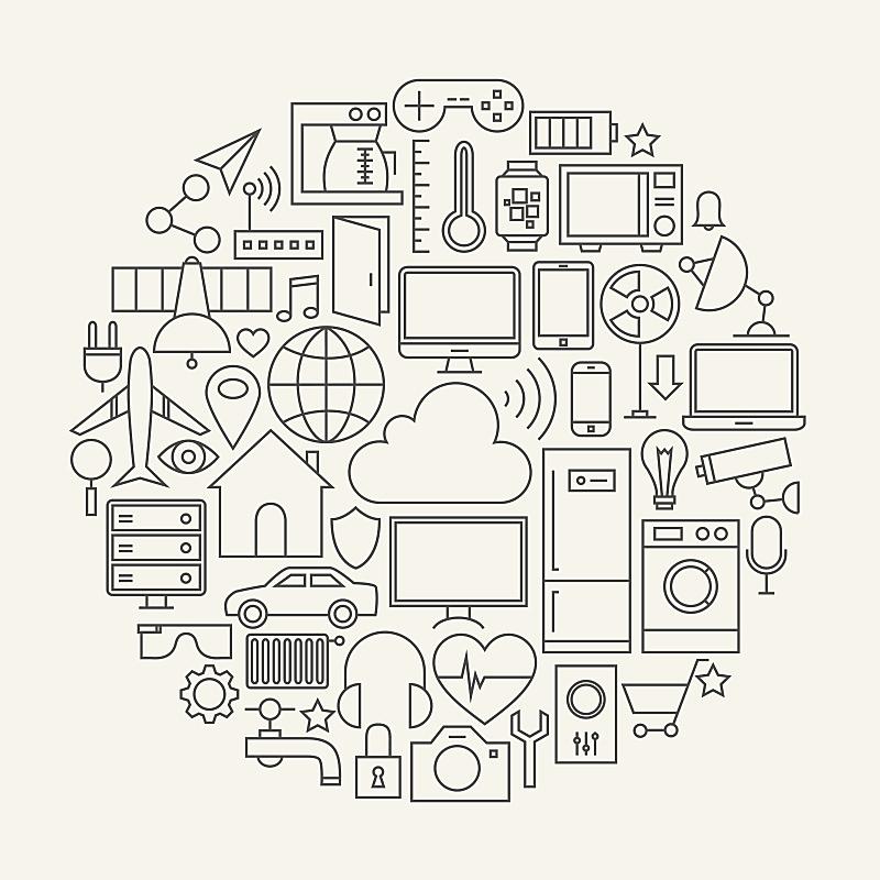 计算机图标,线条,烟灰墨,物联网,微波炉,电子邮件,智慧,绘画插图,居住区