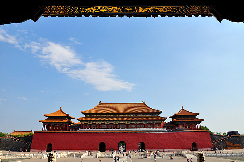 故宫,北京,国际著名景点,旅游目的地,水平画幅,建筑,无人,摄影