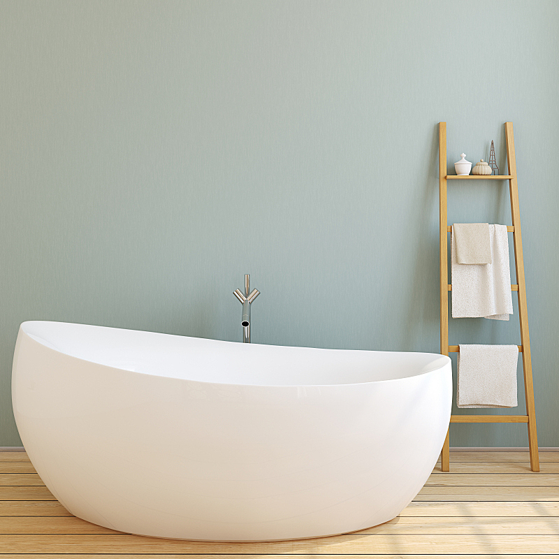 现代,三维图形,浴室,正面视角,新的,形状,墙,无人,家具,白色