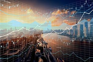 金融,股票行情,背景,天空,水平画幅,高视角,智慧,无人,银行帐户,都市风景