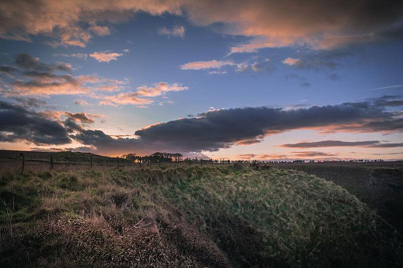 苏格兰,天空,水平画幅,夜晚,无人,蓝色,户外,草,田地,长时间曝光