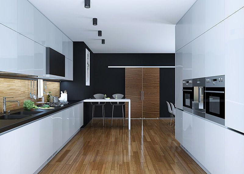 厨房,现代,餐具,住宅房间,古董,水平画幅,无人,椅子,装饰物,微波炉