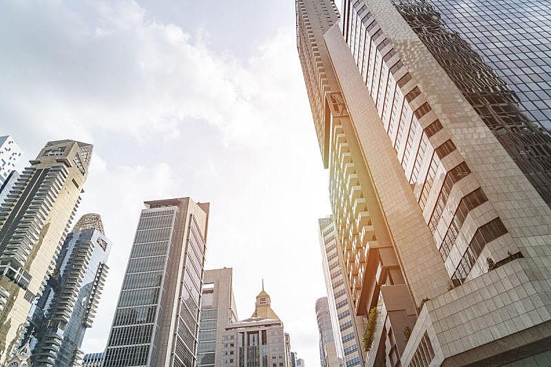 新加坡,cbd,十字路口,正下方视角,商务,城市生活,现代,著名景点,商业金融和工业,窗户