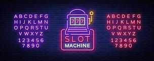 夜晚,绘画插图,明亮,布告栏,矢量,计算机图标,霓虹灯,老虎机,赌场