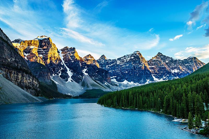 阿尔伯塔省,湖,加拿大,山谷市,梦莲湖,十峰谷,水,洛矶山脉,气候,水平画幅