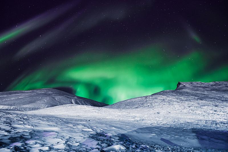 天空,星星,月亮,北极光,山,朗伊尔城,挪威,北极,斯瓦尔巴德群岛,南极洲
