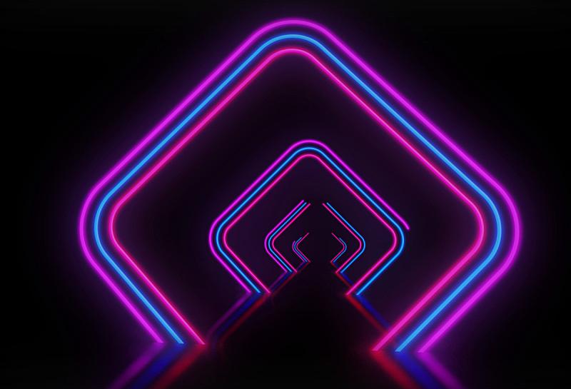 霓虹灯,背景聚焦,商务,空的,暗色,波兰,边框,技术,夜总会,复古风格