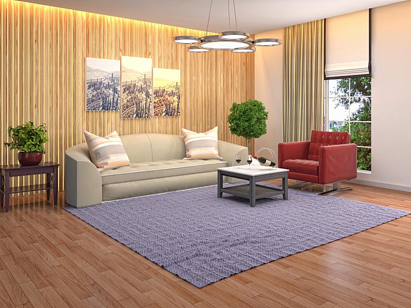 绘画插图,室内,起居室,三维图形,正面视角,褐色,座位,水平画幅,无人,灯