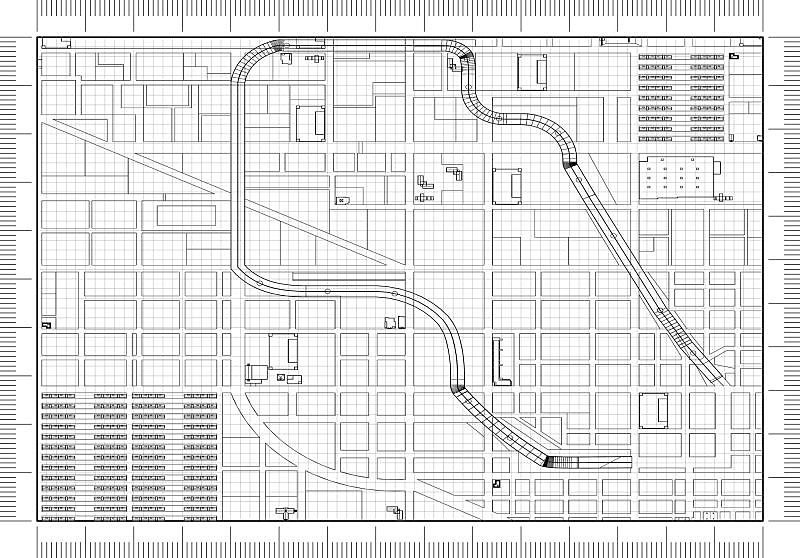 蓝图,城市,概念,建筑师,商务,加利福尼亚,公园,现代,建筑业,著名景点