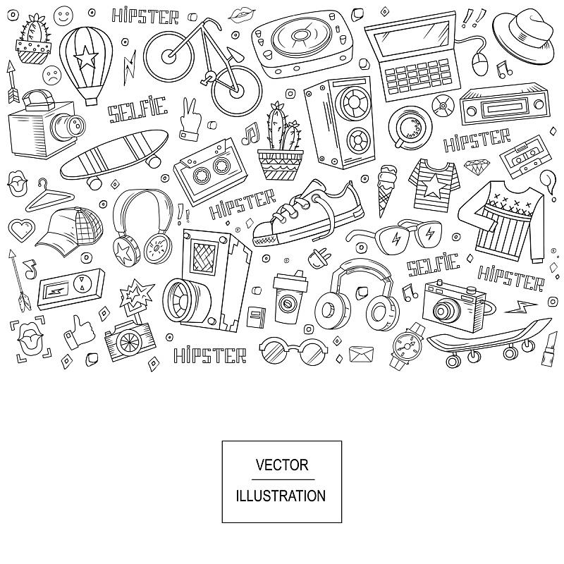 矢量,抽象拼贴画,化学元素周期表,卡通网络,服装设计室,晒衣绳,时尚设计师,电影摄像机