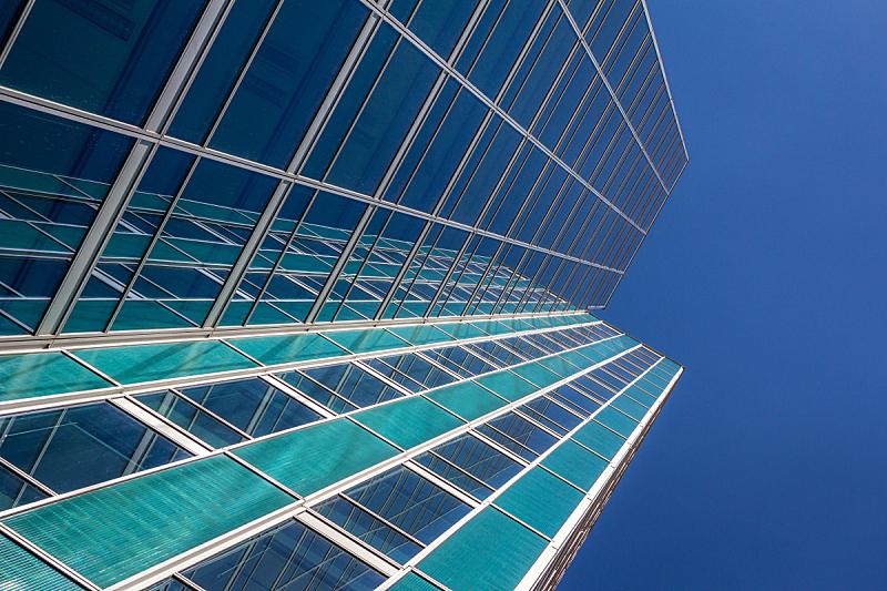 现代,商务,总部大楼,背景,办公楼外观,糖衣蛋糕,横截面,边框,黄昏,钢铁