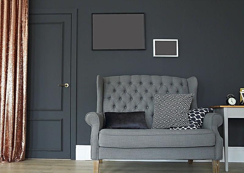 住宅房间,门,室内,简单,留白,门口,边框,座位,水平画幅,无人