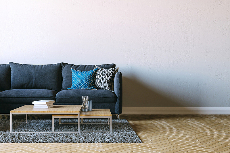 沙发,三维图形,白色,室内,墙,自然美,空的,纺织品,华贵,舒服