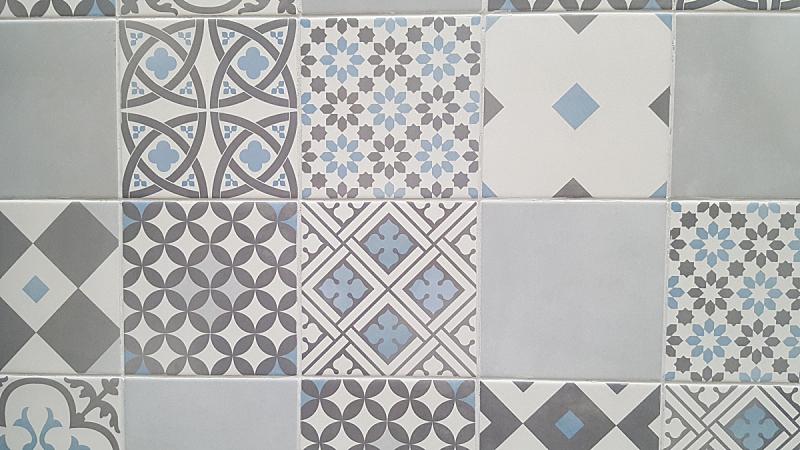 古老的,瓷砖,青绿色,传统,陶瓷制品,几何形状,纺织品,法国,图像,艺术