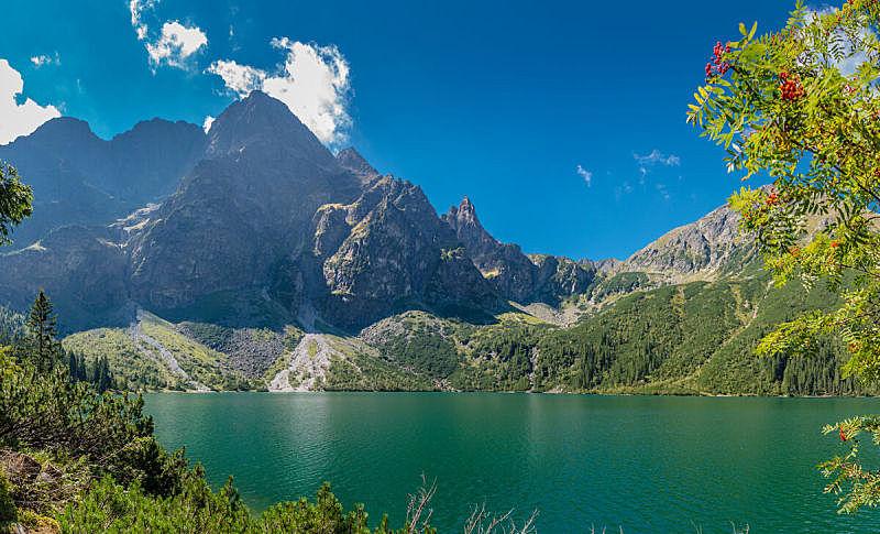 自然,水平画幅,地形,无人,欧洲,夏天,户外,卡帕锡安山脉,湖,草