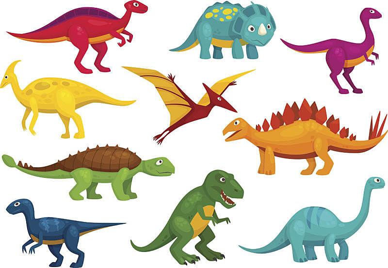 卡通,恐龙,矢量,动物,褐色,人老心不老,拟人笑脸,绘画插图,符号,性格