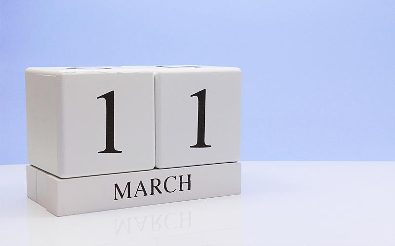 月,春天,白色,桌子,留白,日历,空的,数字11,行军
