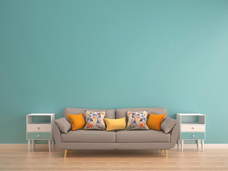 沙发,唇形科,绿色,墙,餐具柜,硬木地板,水平画幅,家具,模板,悬挂的