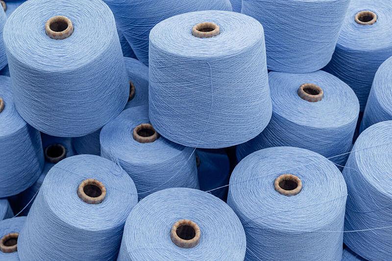 纺织品,羊毛,螺线,水平画幅,巨大的,纤维,工厂,组物体,特写,棉