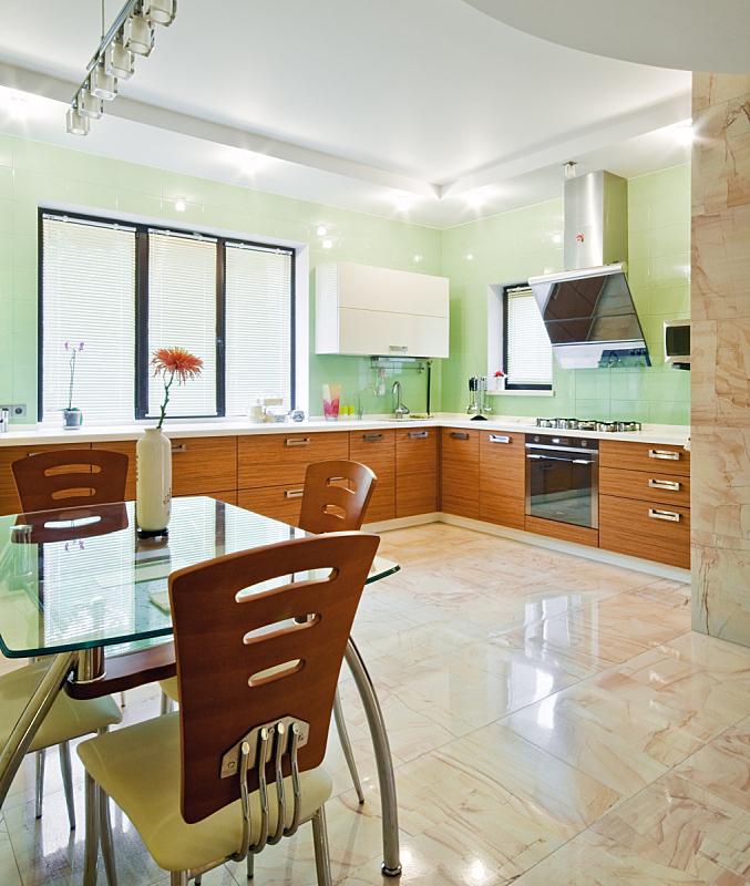 现代,室内,厨房,垂直画幅,新的,无人,椅子,家庭生活,天花板,灯