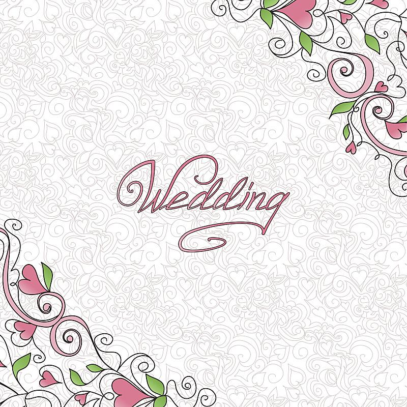 贺卡,婚礼,蜜月,华丽的,请柬,美术工艺,边框,浪漫,情人节卡,仅一朵花