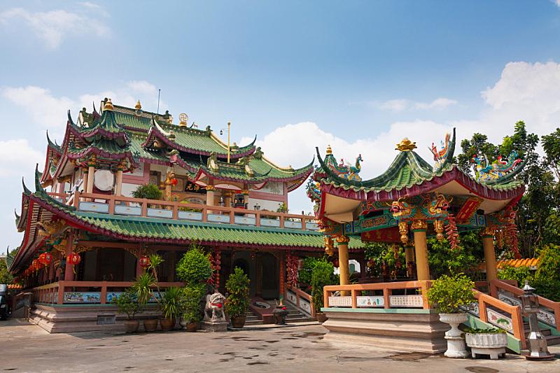 泰国,寺庙,东亚人,云,公园,园林,户外,建筑,建筑结构,东