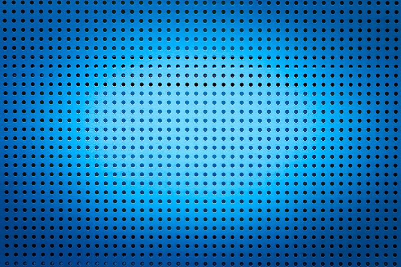 洞,蓝色,金属,光圈,金属格栅,式样,水平画幅,风化的,无人,抽象