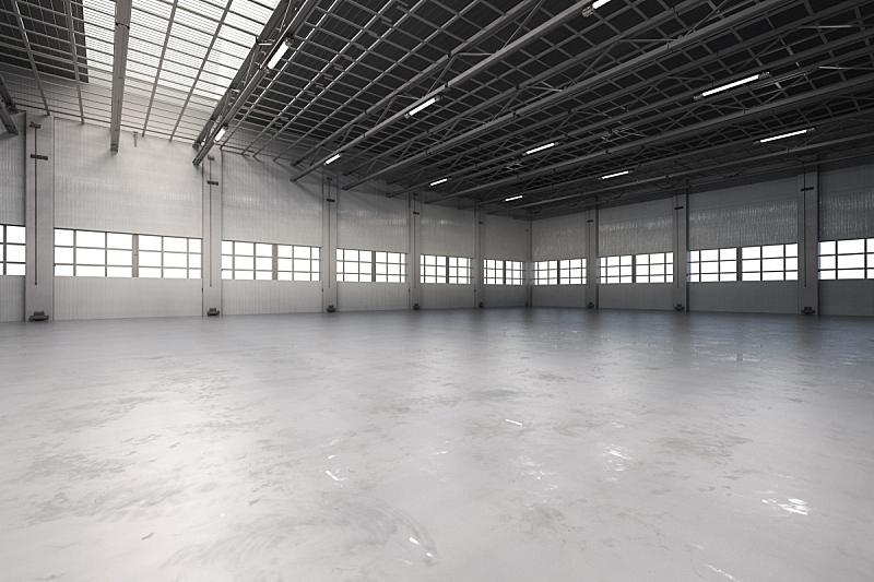 工厂,空的,室内,仓库,水平画幅,无人,巨大的,天花板,百叶窗,飞机库
