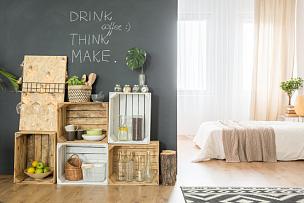 工作室,室内,高雅,个人随身用品,留白,水平画幅,无人,板条箱,蛇王,家具